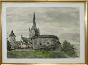 Паруб Михаил. Таллин, вид на башню магистратуры. 1969
