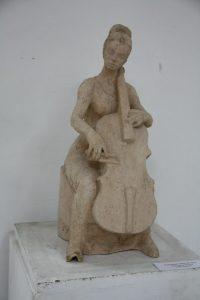 Паруб Михаил.  Виолончилистка. 1988.
