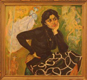 Евгений Мельников. Портрет Лолы Бабаевой. 1979