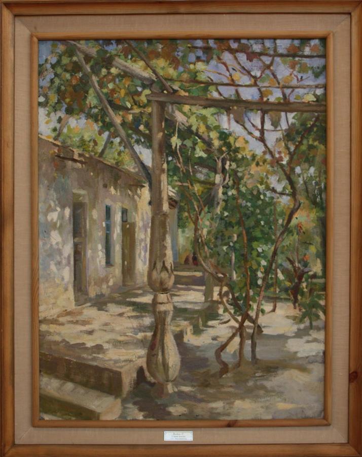 Павел Беньков. Узбекский дворик. 1929