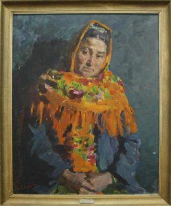 Доярка Матакубова. Ю.Елизаров. 1983
