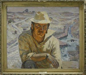 Портрет прораба Гатеева. Р. Гаглоева. 1974