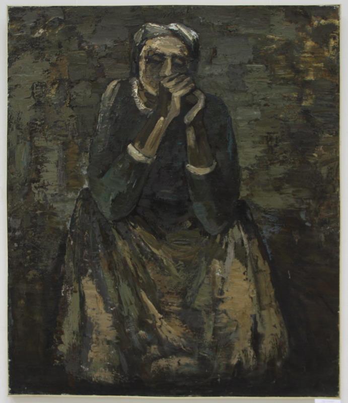 Скорбь. Автопортрет. Р. Гаглоева. 2003