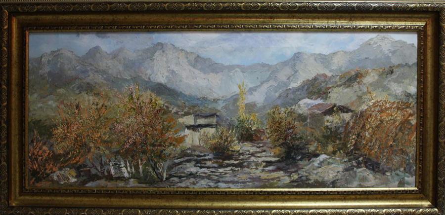 Акмал Мирсагатов. Горный пейзаж.