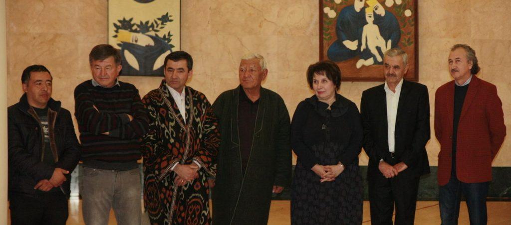 На открытии выставки «Хранители керамики Узбекистана»
