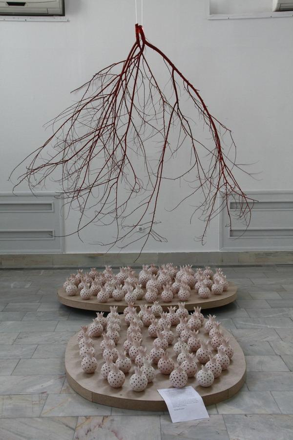 Назира Кузиева. Инсталляция «Венозная система». 2015