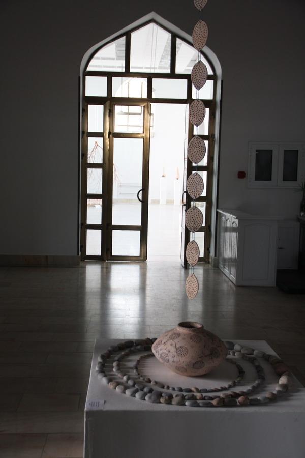 Назира Кузиева. Инсталляция. Цепь дождука. 2015.