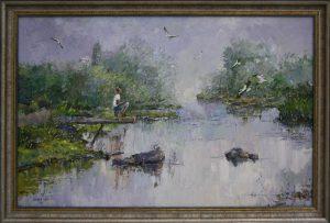 Саттаров Х. Полёт над рекой. 2015