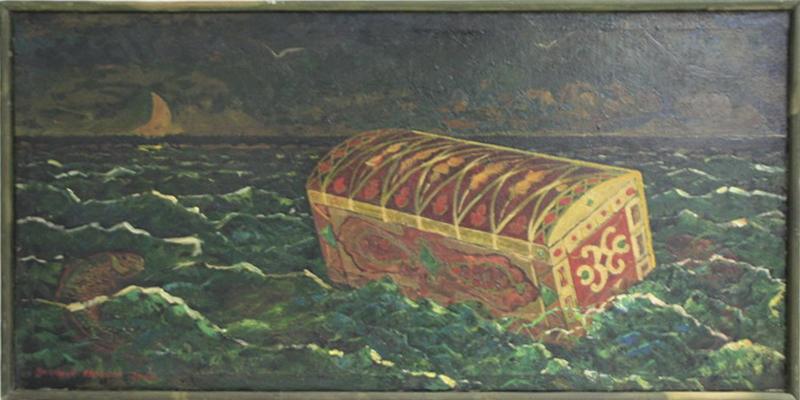 Махмуд Хусенов. Эскиз к картине Тахир и Зухра. 2000