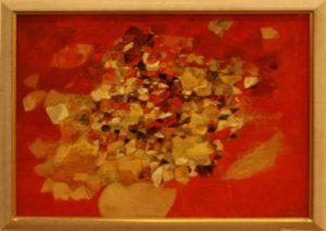 Лана Лим. Осенний натюрморт с листьями. 2014