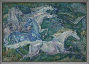 Мельников Е.П. Белые лошади. 1974 (ДХВ)