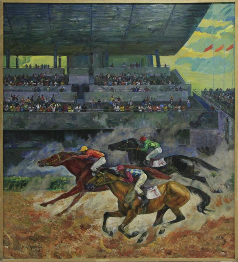 Мельников Е.П. Скачки на ташкентском ипподроме. 1984 (ДХВ)