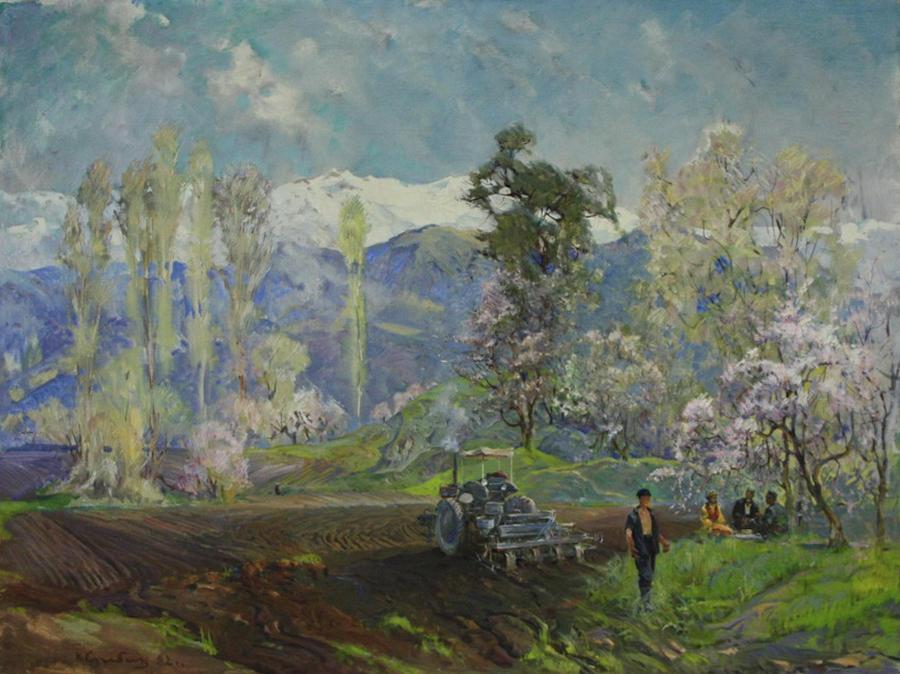 Нигмат Кузыбаев. Весна. 1982 (ДХВ)