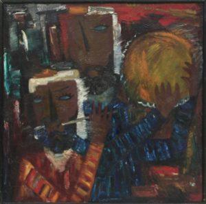 Тимуров Ш. Триптих. Народные кукольники -1. 1989 (ДХВ)