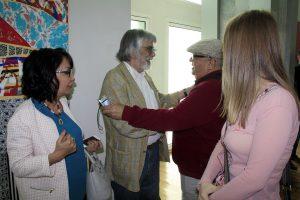 Встреча давних знакомых. В.Ахунов и Б.Джалал