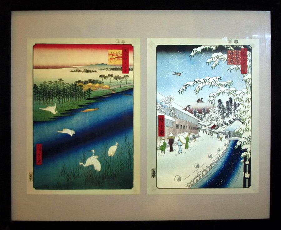 Гравюры видов Эдо 1. Хиросиге Утагавы