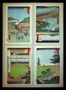 Гравюры видов Эдо 3. Хиросиге Утагавы