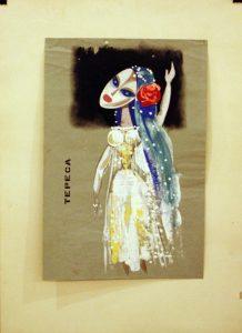Виниамин Акудин. Эскиз куклы. (3)