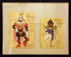 Виниамин Акудин. Эскизы кукол. (5)