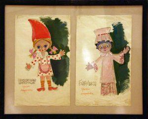 Виниамин Акудин. Эскизы кукол. (7)