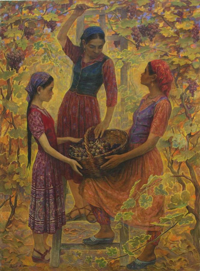 Александр Перов. Урожай.Сбор винограда. 1958