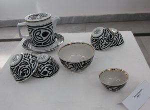 Римма Газалиева Авторская роспись по фарфору. Чайный набор (6)