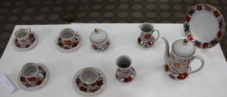 ASCРимма Газалиева Авторская роспись по фарфору. Чайный сервис