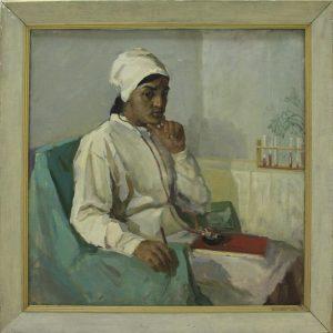 Набиев М. Портрет доктора Махмудовой. 1967