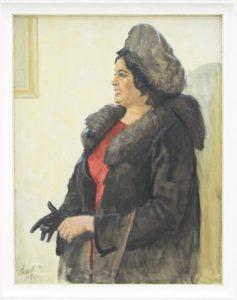 Набиев М. Портрет искусствоведа Ифат Рахматуллаевой. 1976