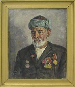 Набиев М. Портрет участника Второй Мировой войны Примова. 1989