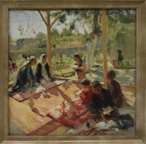 kashina-nadezhda-etyud-vo-dvore-1952-dhv