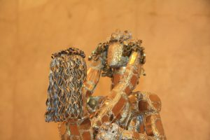 Баят Мухтаров. Молитва любви. Фрагмент Дерево металл.
