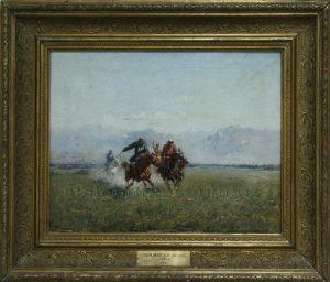 Zommer R.K. (1866 - 1939) Скачки.