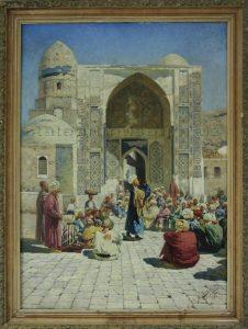 Zommer R.K. (1866 - 1939) У Самаркандской мечети. 1896