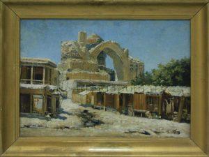 Zommer R.K. (1866 - 1939) У мечети Биби-Ханым. 1897