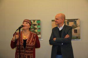 Открытие выставки Галина и Рональд