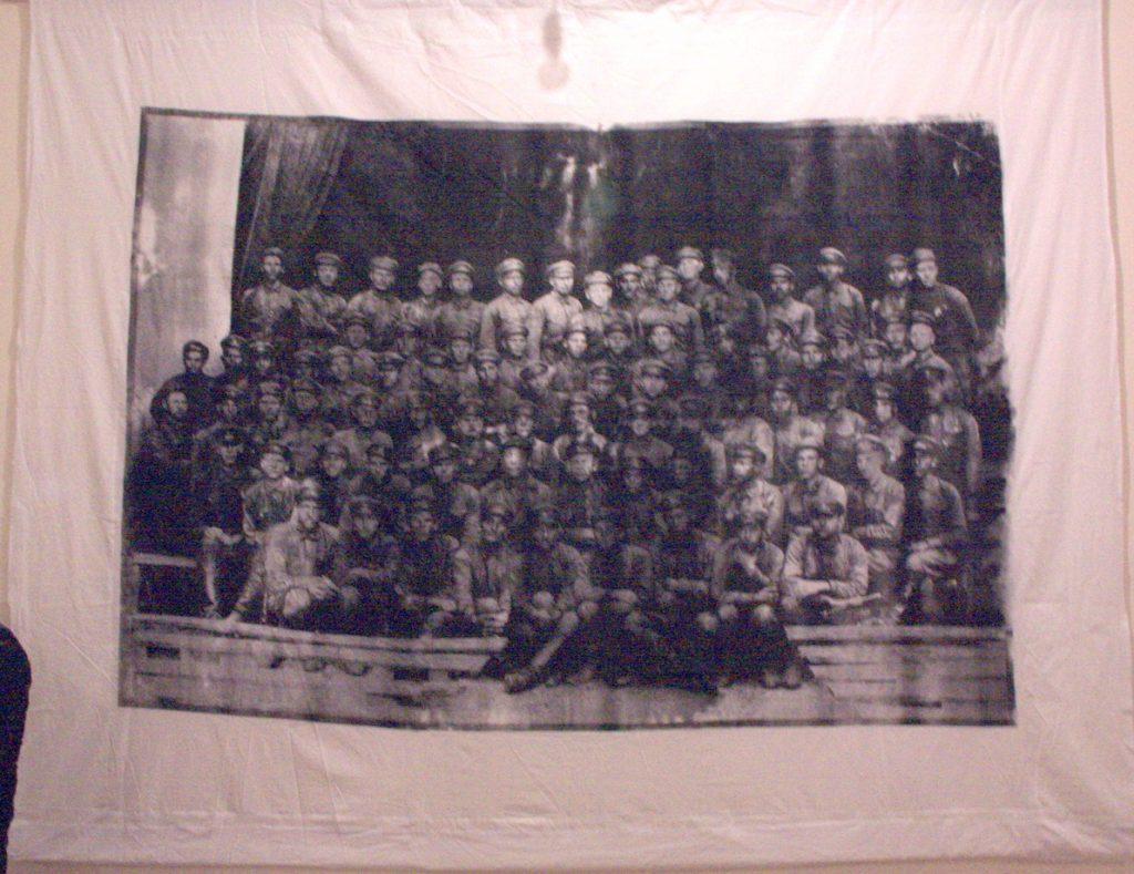 Усеинов Вячеслав. Папа Александра Куприна. 2-й ряд, 2-й справа. 1933. Москва. шелкография с фотографии.