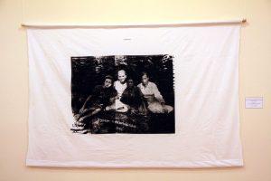 Усеинов Вячеслав. Тётя Алишера Хамидова. 1940. Фергана. шелкография с фотография.