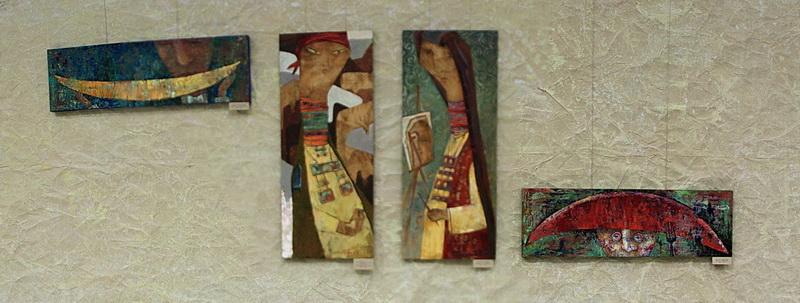 Экспозиция картин Т. Фадеевой