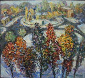 Залевская О. Осенний снег в городе.