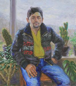 Базаров Рустам. Портрет художника. 2016