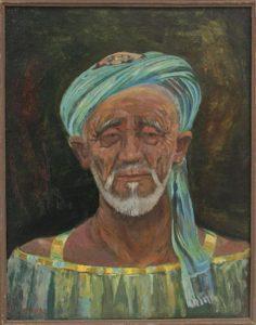 Бекмиров Ч. Портрет аксакала.1995