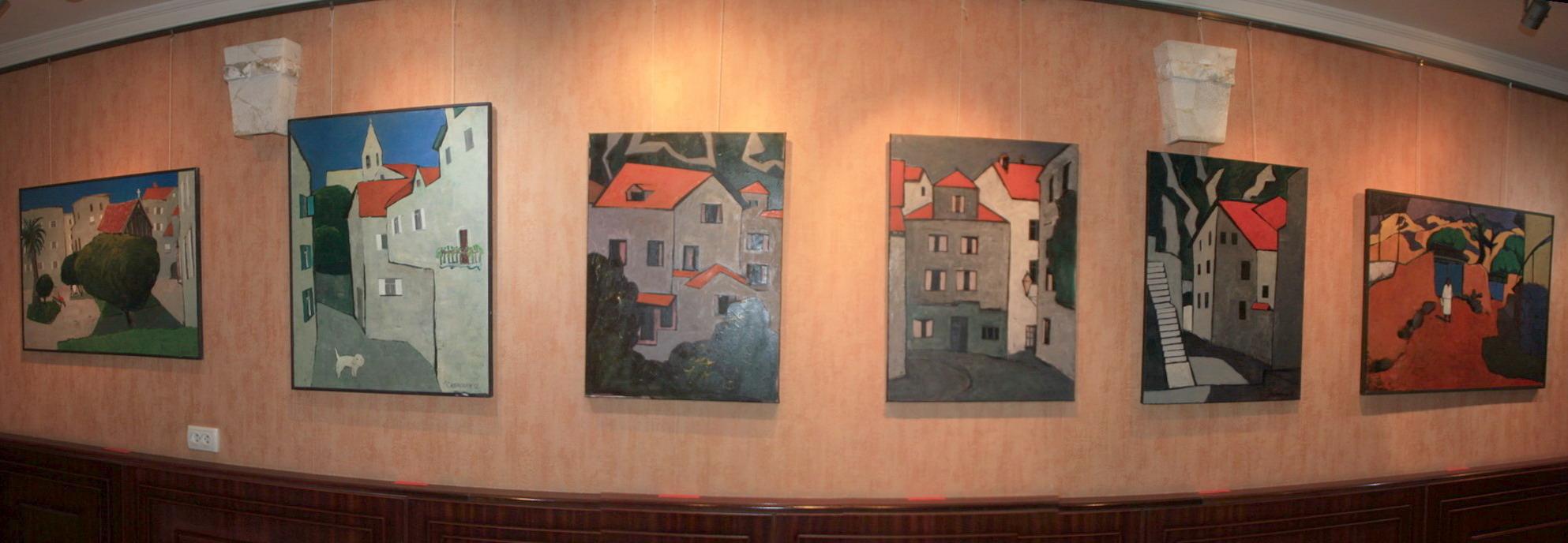 И.Валиходжаев. Экспозиция картин с сюжетами Черногории. 2012