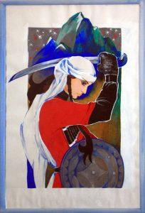 Коровина Мария. Иллюстрация к поэме - Девушка джигит.