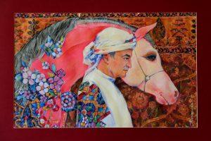 Портрет Али, 2016, 42х 60, бумага, карандаш