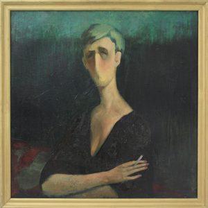 Рахмонов Ж. Дама с сигаретой. 1995