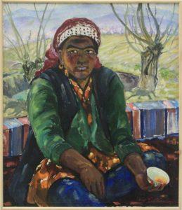 Турсунназаров Й. Портрет повара. 1988