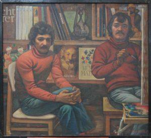 Юсупов А. Автопортрет с другом. 1983 (ДХВ)
