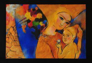 Золотой ребёнок. 65х45 бумага, пастель 2015