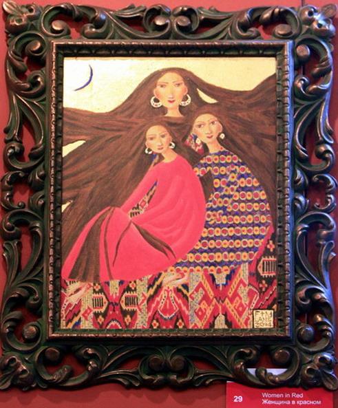 Фаозия и Майкл Лейн. Женщина в красном.